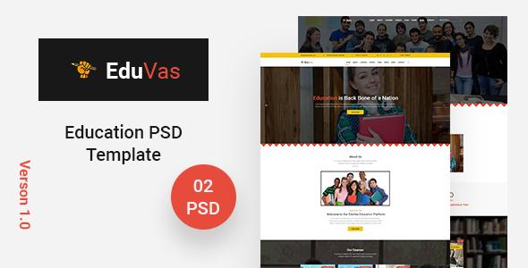 EduVas- Education PSD Template