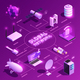Global Network Isometric Flowchart - GraphicRiver Item for Sale