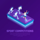 VR Sport Competition Isometric Composition - GraphicRiver Item for Sale