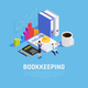 Book Keeping Isometric Composition - GraphicRiver Item for Sale