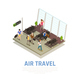 Air Travel People Isometric Composition - GraphicRiver Item for Sale