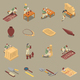 Archeology Isometric Icons Set - GraphicRiver Item for Sale