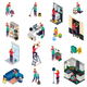 Cleaning Services Isometric Set - GraphicRiver Item for Sale