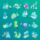 Vaccines Development Isometric Icons - GraphicRiver Item for Sale