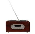 modern radio with wooden finish isolated white - PhotoDune Item for Sale