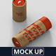 Paper Tube Mockup - Slim Short Size - GraphicRiver Item for Sale