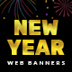 2019 Happy New Year Web Banners - GraphicRiver Item for Sale
