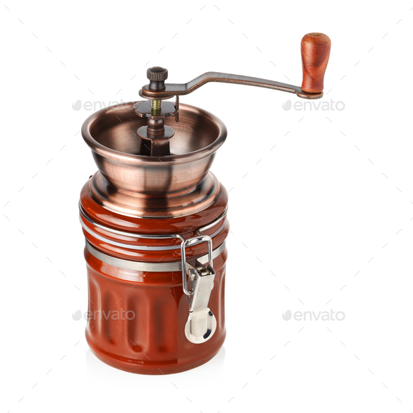 Antique coffee grinder - Stock Photo - Images