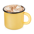 Enamel cup with hot cocoa - PhotoDune Item for Sale