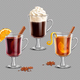 Mulled Wine Grog and Irish Coffee on Transparent Background - GraphicRiver Item for Sale