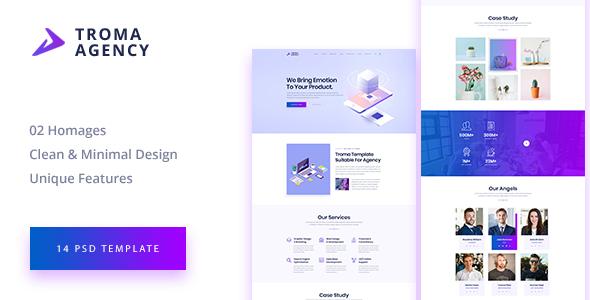TROMA - Creative Agency PSD Template - Creative PSD Templates