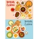 British Cuisine Popular Dishes Icon Set Design - GraphicRiver Item for Sale