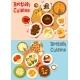 British Cuisine Popular Dishes Icon Set Design - GraphicRiver Item for Sale
