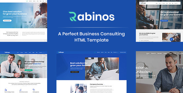 Rabinos - Consulting Business HTML Template