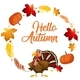 Turkey on Autumn Card Template - GraphicRiver Item for Sale