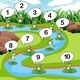 Frogs Count Numbers at Pond - GraphicRiver Item for Sale