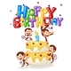 Free Download Monkey Happy Birthday Card Nulled