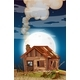 Old House at Night Scene - GraphicRiver Item for Sale