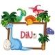 Many Dinosaur Frame Template - GraphicRiver Item for Sale