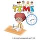 Boy Doing Homework at 7:15 - GraphicRiver Item for Sale