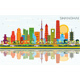 Shanghai China City Skyline with Color Buildings - GraphicRiver Item for Sale