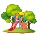 Children Play Slide at Playground - GraphicRiver Item for Sale