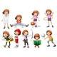 Set of Girl Activity - GraphicRiver Item for Sale