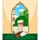Muslim Boy Study Qur'an - GraphicRiver Item for Sale