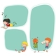 Boy and Girl on Blank Note - GraphicRiver Item for Sale