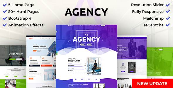 DZone Agency: Creative Multipurpose Bootstrap 4 HTML Template - Creative Site Templates