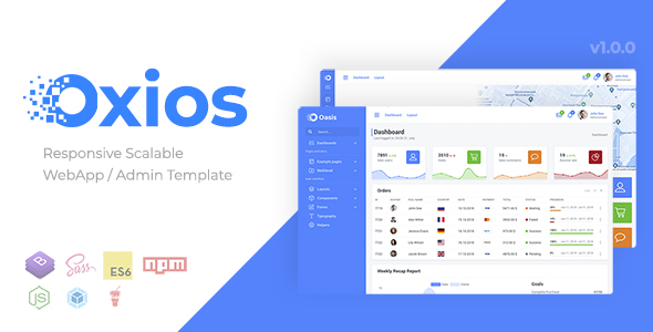 Oxios - Responsive Scalable Admin Template Free Download | Nulled