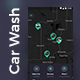 Car Wash App Full UI Kit | 27 Screens PSD - GraphicRiver Item for Sale