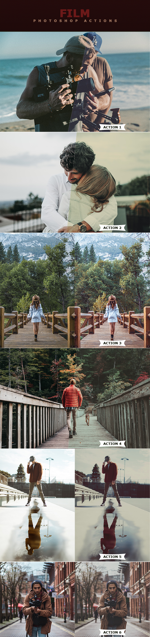 Film Photoshop Actions - Photo Effects Actions
