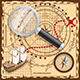 Pirate Map with the Route to the Treasures - GraphicRiver Item for Sale
