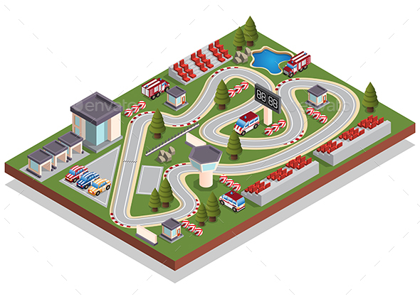 Race Track - Sports/Activity Conceptual