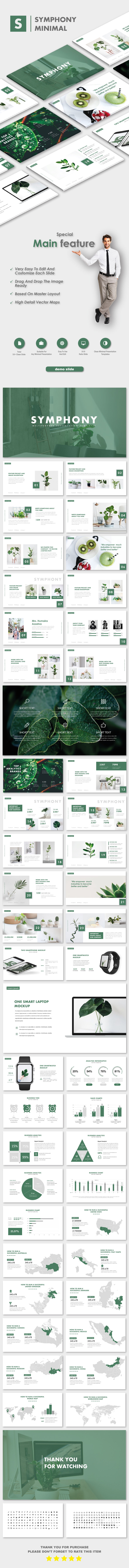 Symphony MNML Keynote Templates - Nature Keynote Templates