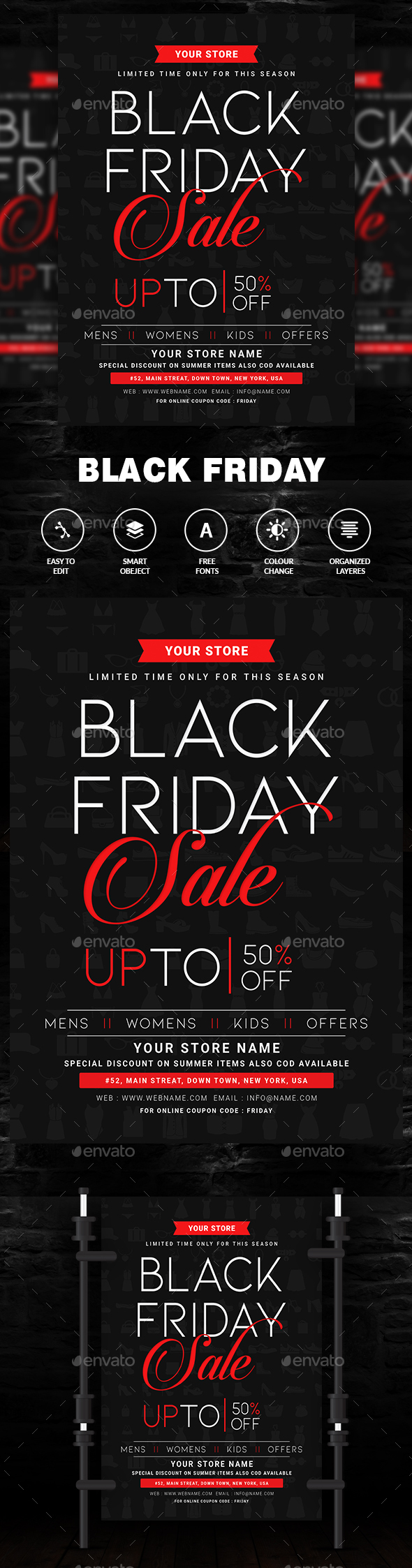 Black Friday - Events Flyers