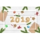 Christmas and 2019 New Year Vector Background - GraphicRiver Item for Sale