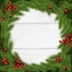 Christmas Wreath Vector Illustration on White - GraphicRiver Item for Sale