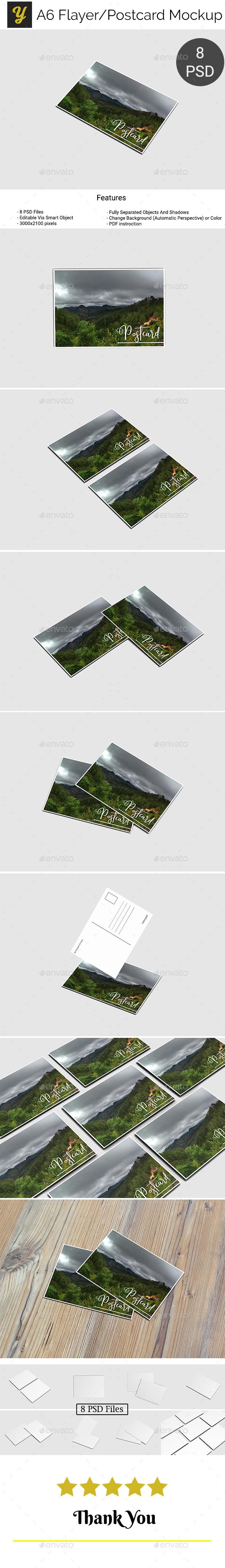 A6 Flyer / Postcard Mock-Up - Miscellaneous Print