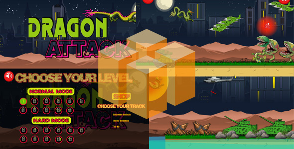 Dragon Attack - Buildbox Game - CodeCanyon Item for Sale