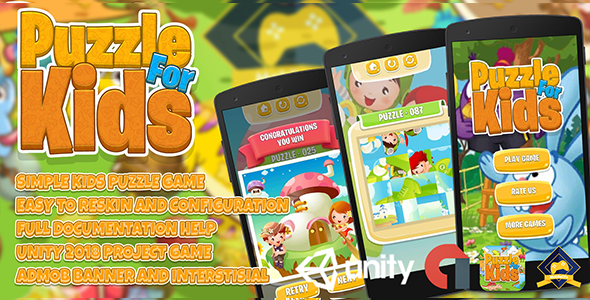 Kids Puzzle Game + Admob Ads Ready + Easy Reskin Setups - CodeCanyon Item for Sale