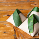 Simple authentic nasi lemak wrapped in banana leaf, popular breakfast in Malaysia - PhotoDune Item for Sale