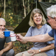 Friends having coffee at a campsite - PhotoDune Item for Sale