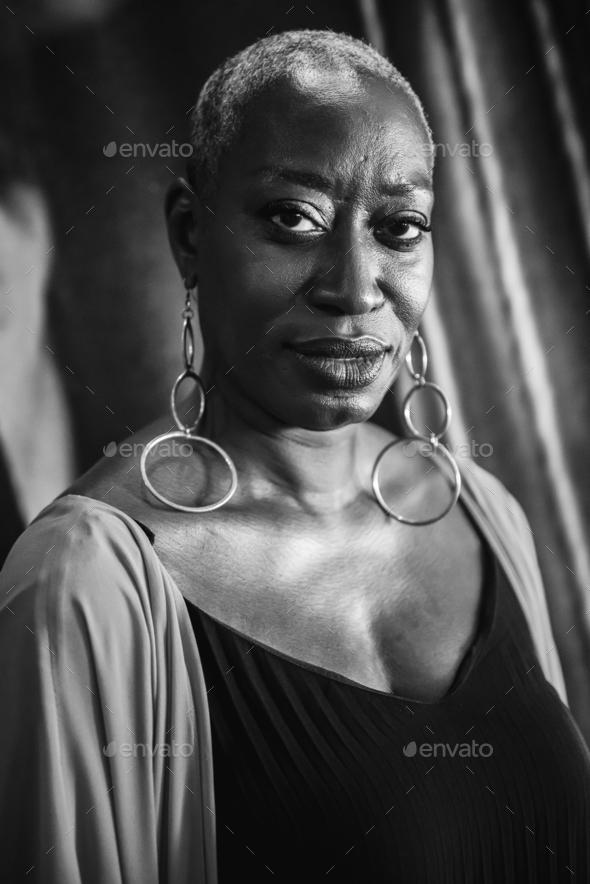Portrait of a woman singer - Stock Photo - Images