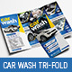 Car Wash Trifold Brochure - GraphicRiver Item for Sale