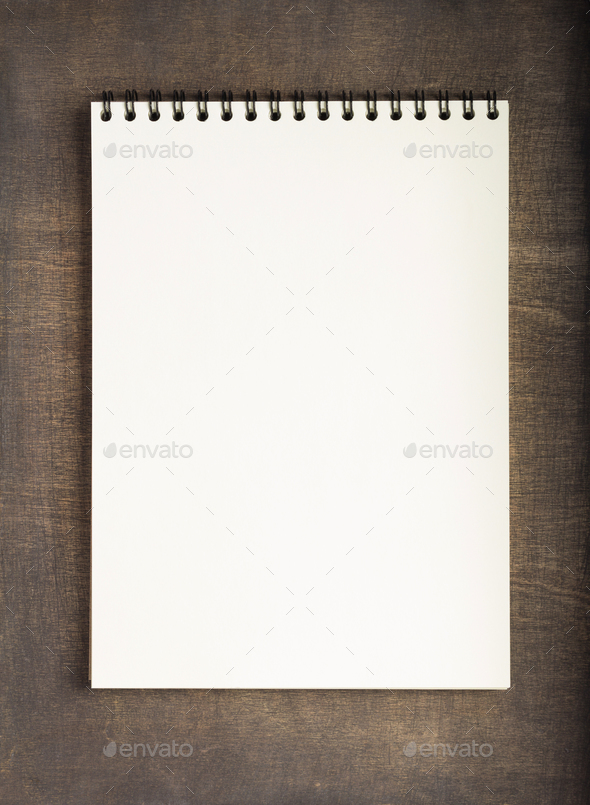 open notebook or book with empty pages - Stock Photo - Images