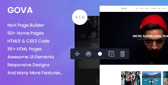 Gova - Professional Multipurpose Templates with Page Builder Free Download | Nulled