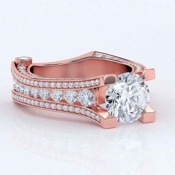 3D Rose gold Ring Elegant - 3DOcean Item for Sale