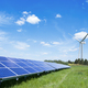 solar panels and wind turbine - PhotoDune Item for Sale